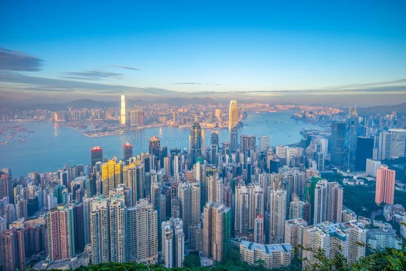 Vue aérienne de Hong Kong image stock