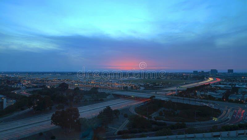 Vue aérienne de John Wayne Airport dans le Comté d'Orange photos stock