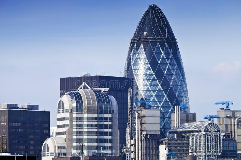 Vue aérienne de jour de ville d'horizon de Londres photo stock
