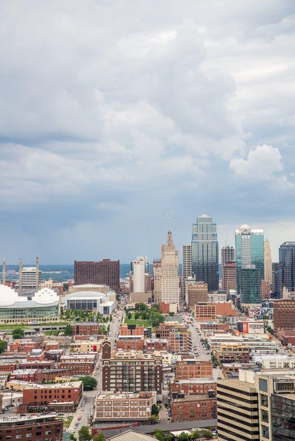 Vue aérienne de Kansas City Missouri photographie stock libre de droits
