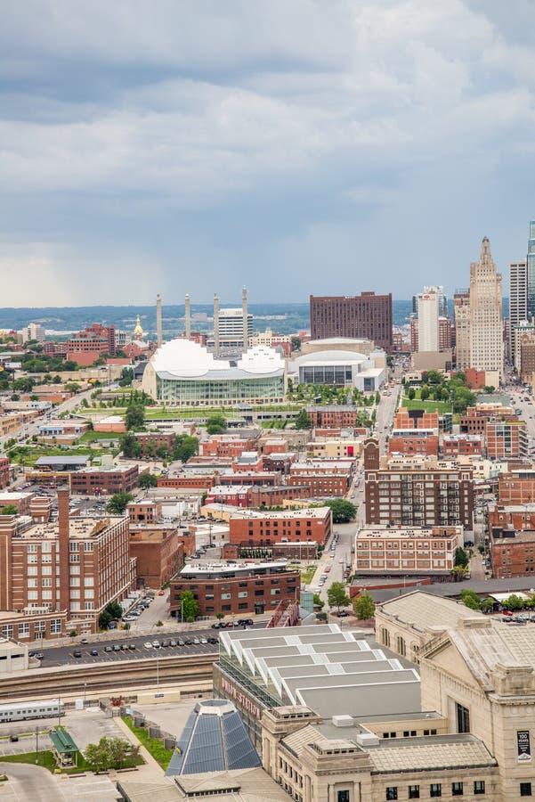 Vue aérienne de Kansas City Missouri photo stock