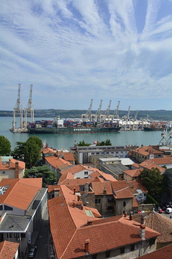 Vue aérienne de Koper images libres de droits