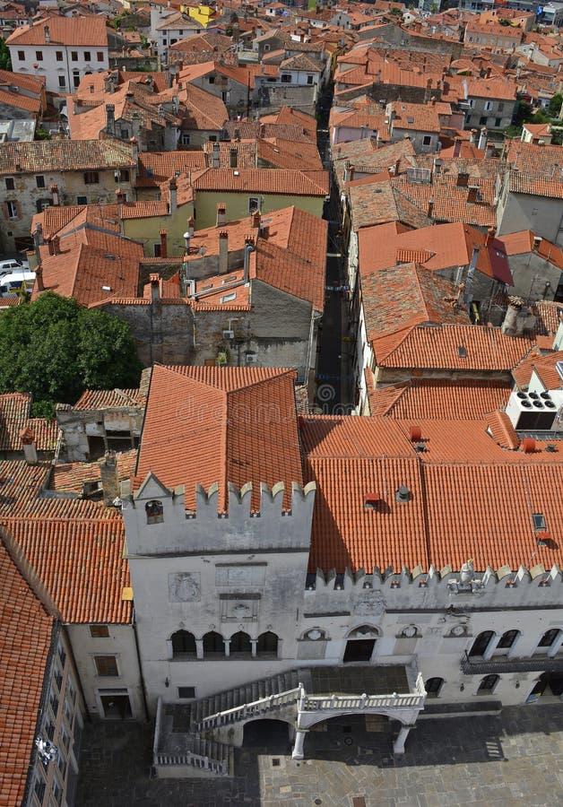 Vue aérienne de Koper photos libres de droits
