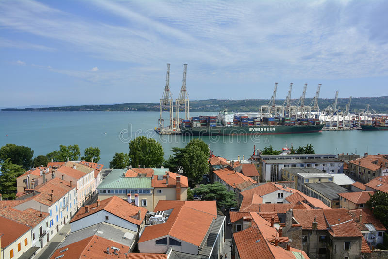 Vue aérienne de Koper photographie stock
