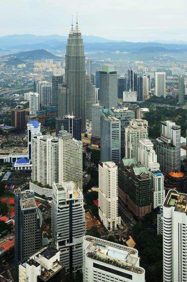 Vue aérienne de Kuala Lumpur image stock