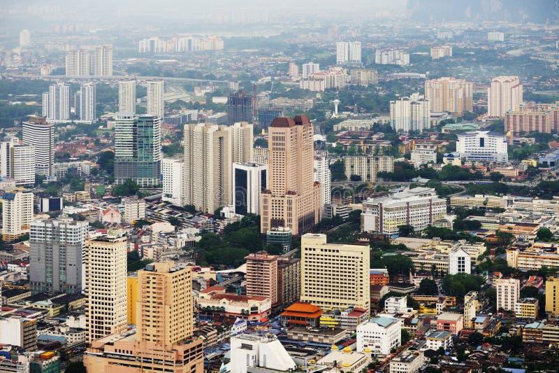 Vue aérienne de Kuala Lumpur images libres de droits