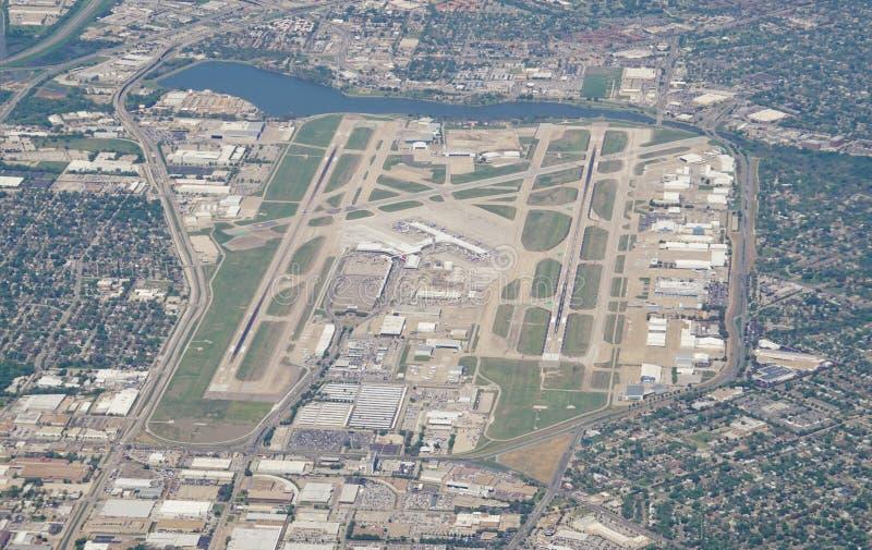 Vue aérienne de l'aéroport de Dallas Love Field (dal) photographie stock