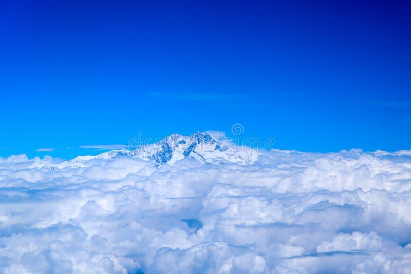 Vue aérienne de l'Himalaya image stock