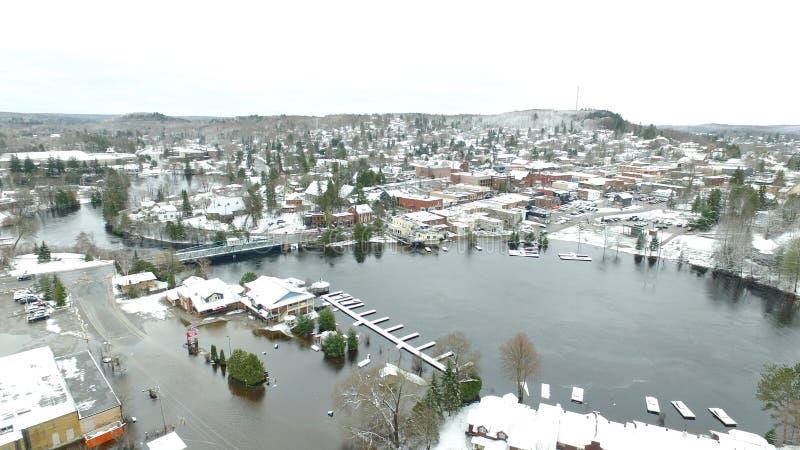 Vue aérienne de l'inondation de ressort à Huntsville photos stock