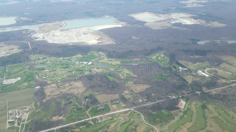 Vue aérienne de la banlieue de Toronto, Canada images libres de droits
