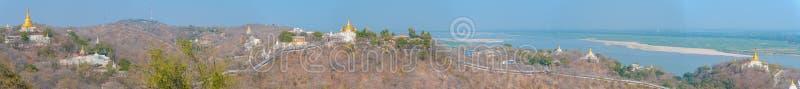 Vue aérienne de la colline sagaing photos stock