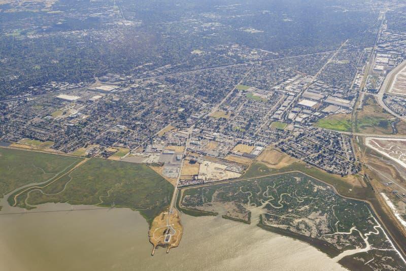 Vue aérienne de la conserve de l'espace ouvert de Ravenswood images libres de droits