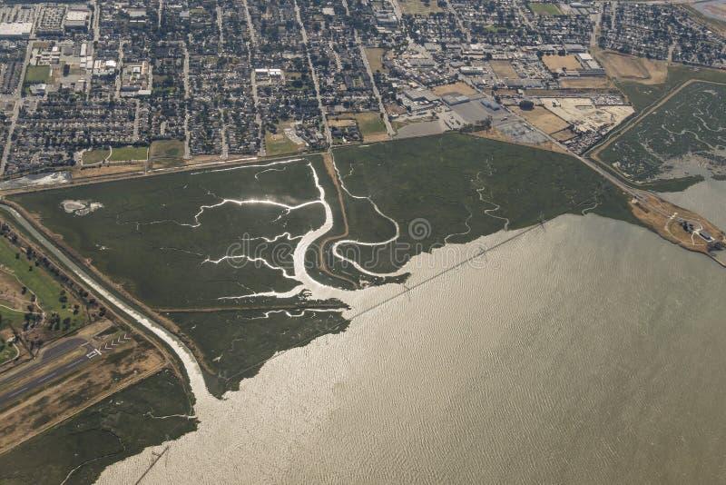 Vue aérienne de la conserve de l'espace ouvert de Ravenswood photographie stock