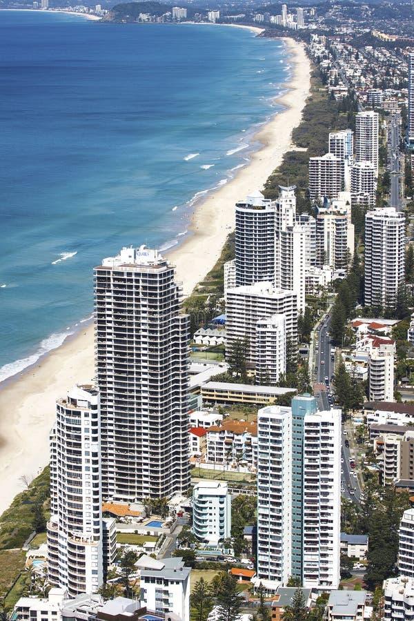 Vue aérienne de la Gold Coast photo libre de droits