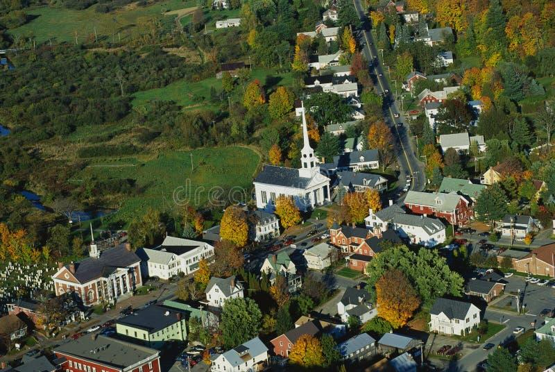 Vue aérienne de la Nouvelle Angleterre photographie stock libre de droits