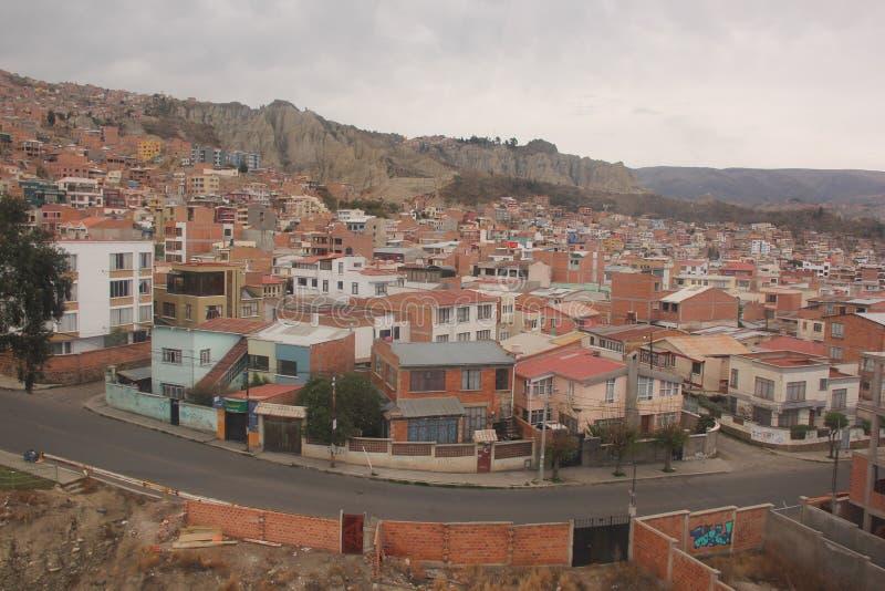 Vue aérienne de La Paz photos stock