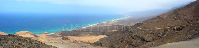 Vue aérienne de la plage de Cofete, Fuerteventura photographie stock