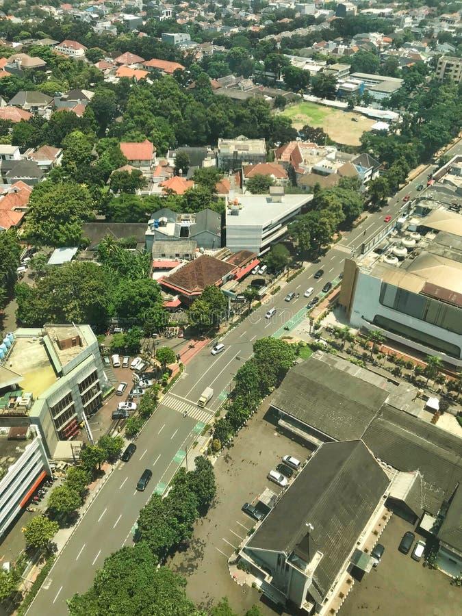 Vue aérienne de la ville image libre de droits