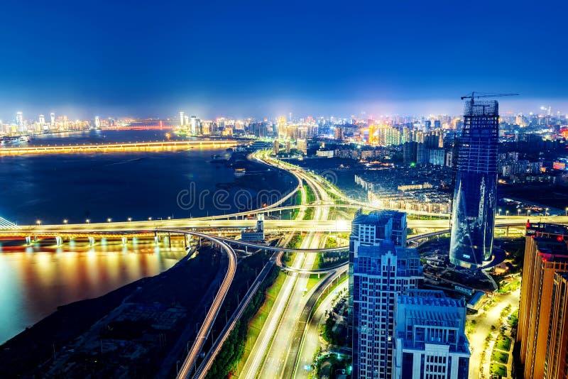 Vue aérienne de la ville photos stock