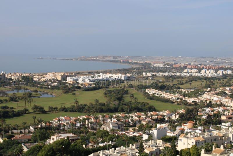 Vue aérienne de la ville photo stock