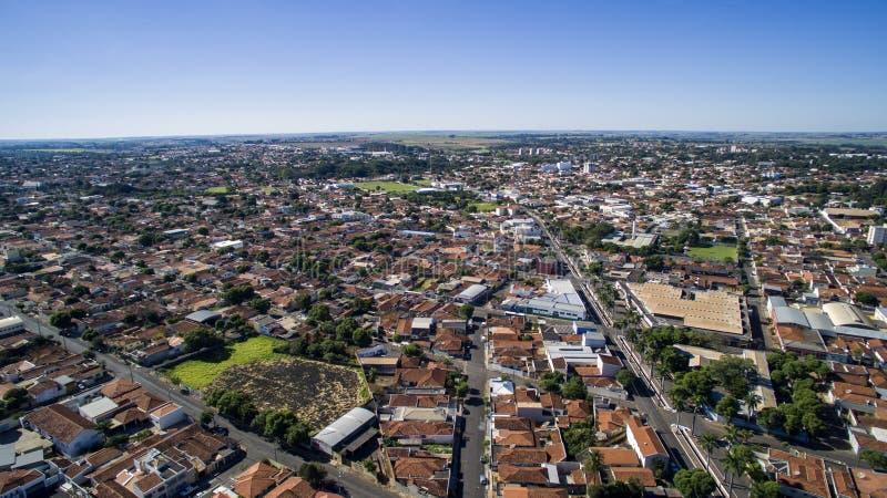Vue aérienne de la ville d'Aracatuba dans l'état de Sao Paulo dans Brazi images stock