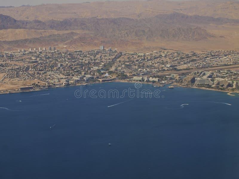 Vue aérienne de la ville d'Eilat photos stock