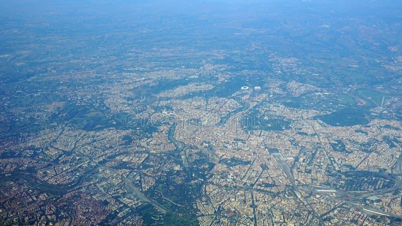 Vue aérienne de la ville de Rome Italie image stock