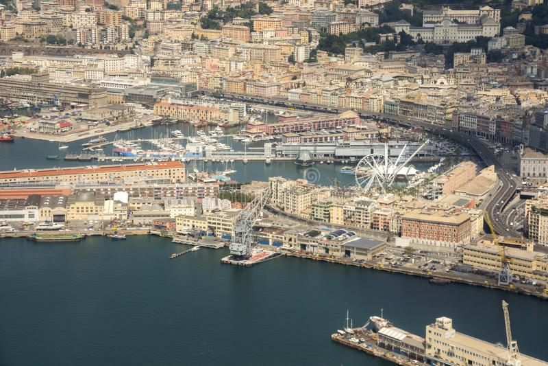 Vue aérienne de la ville de Gênes photo stock