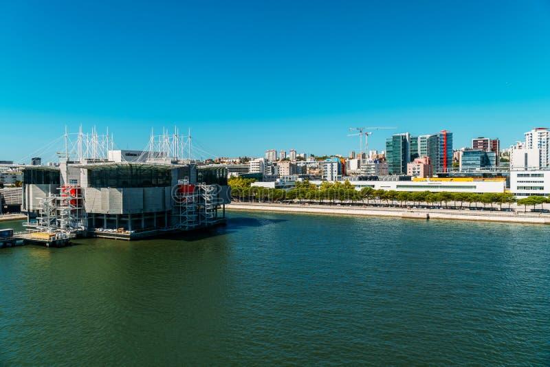 Vue aérienne de Lisbonne Oceanarium photo libre de droits