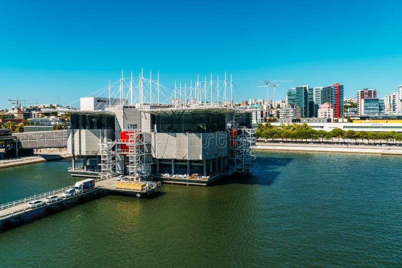 Vue aérienne de Lisbonne Oceanarium photos stock