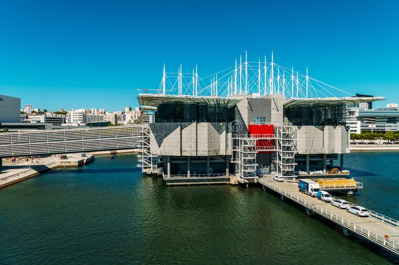 Vue aérienne de Lisbonne Oceanarium photo stock