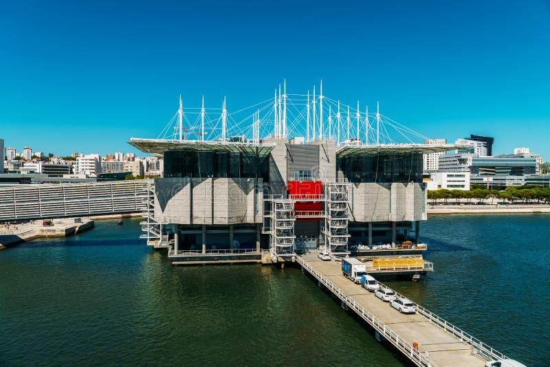 Vue aérienne de Lisbonne Oceanarium image stock
