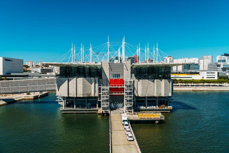 Vue aérienne de Lisbonne Oceanarium photographie stock