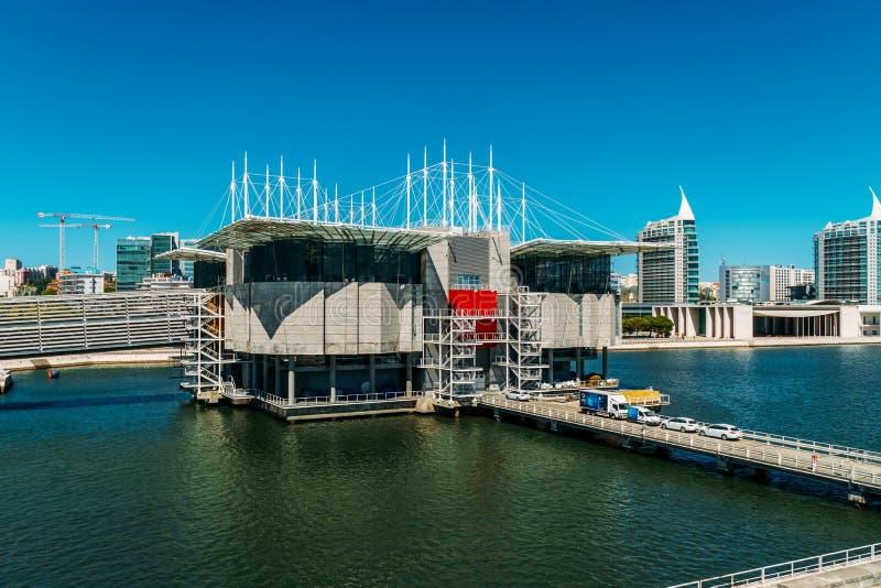 Vue aérienne de Lisbonne Oceanarium photos libres de droits