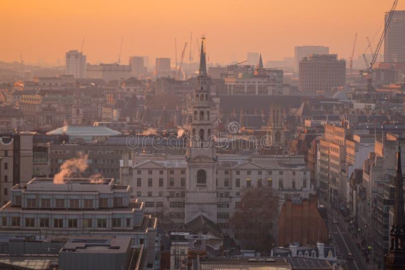 Vue aérienne de Londres de la cathédrale de StPaul, Royaume-Uni photo stock