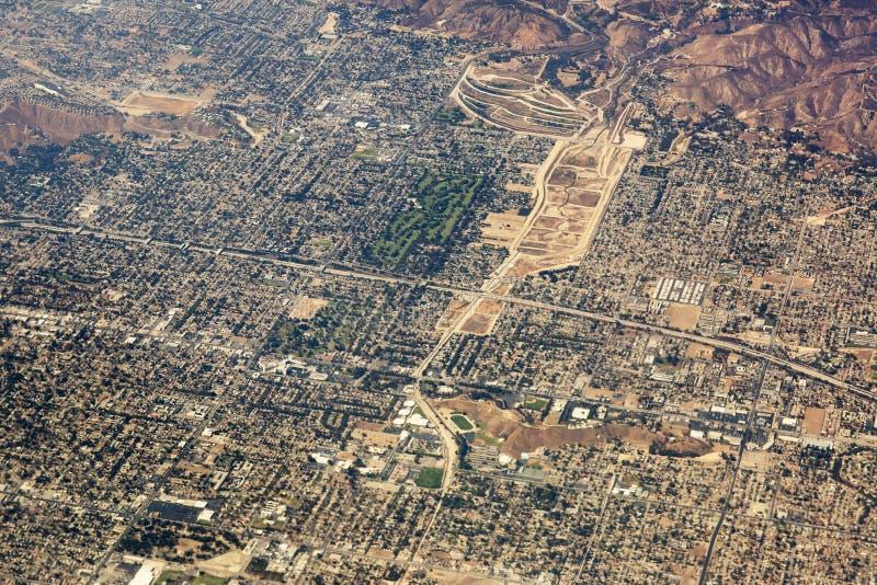 Vue aérienne de Los Angeles aux Etats-Unis photo stock