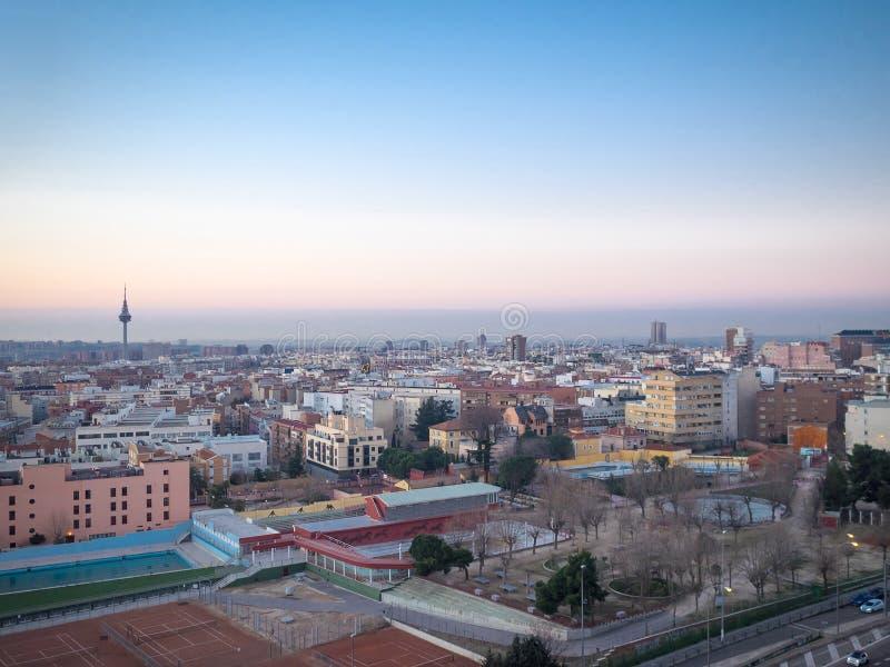 Vue aérienne de Madrid image stock