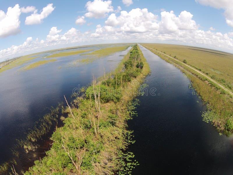 Vue aérienne de marais de la Floride image stock