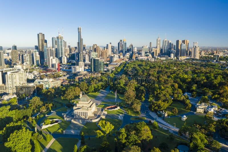 Vue aérienne de Melbourne CBD photo libre de droits