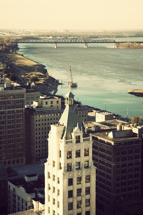 Vue aérienne de Memphis, Tennessee photos libres de droits