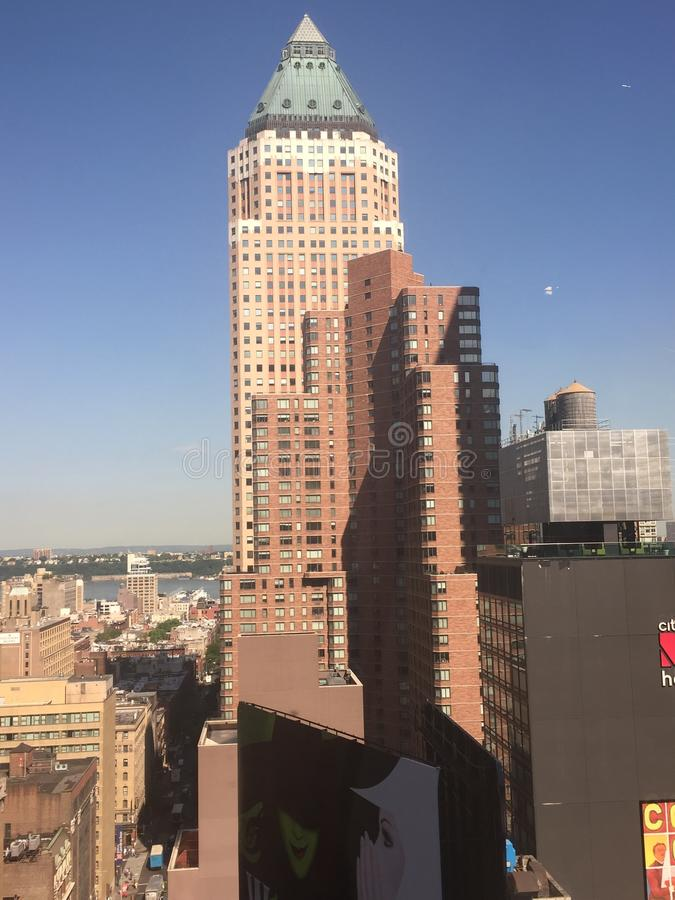 Vue aérienne de Midtown Manhattan photographie stock
