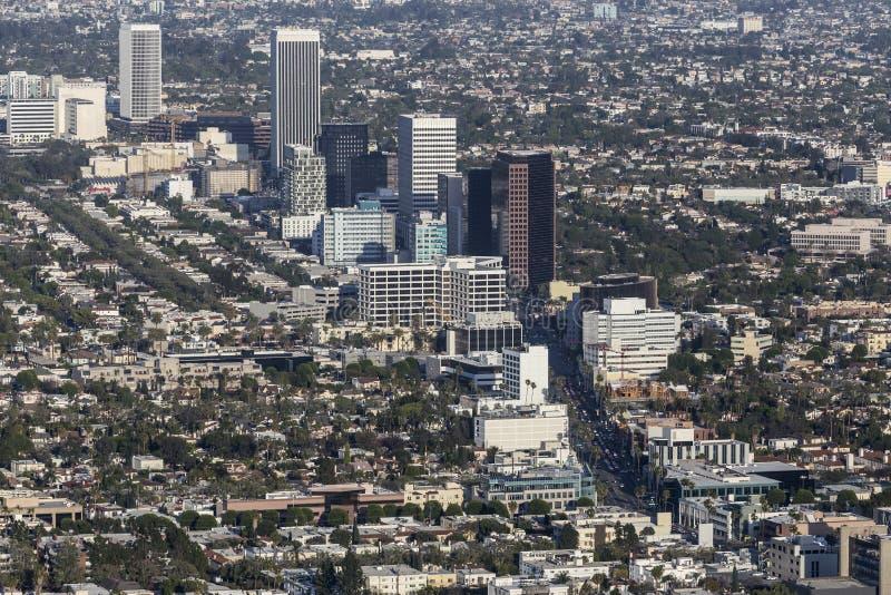 Vue aérienne de mille de miracle de Bd. de Los Angeles Wilshire image libre de droits