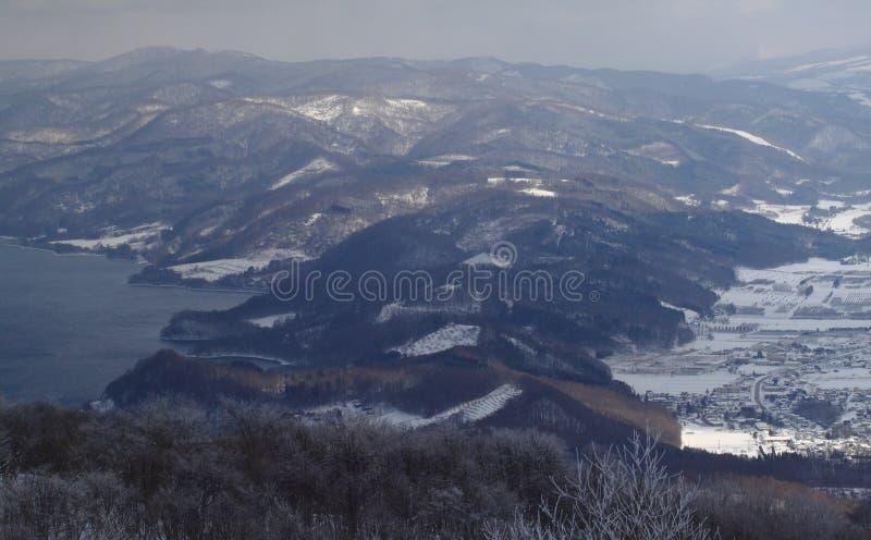 Vue aérienne de montagne image stock