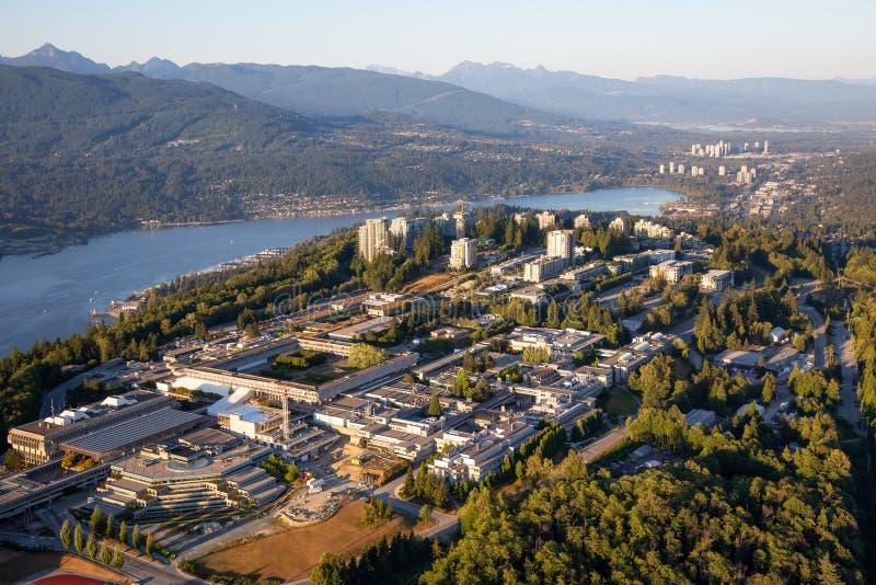 Vue aérienne de montagne de Burnaby photo libre de droits