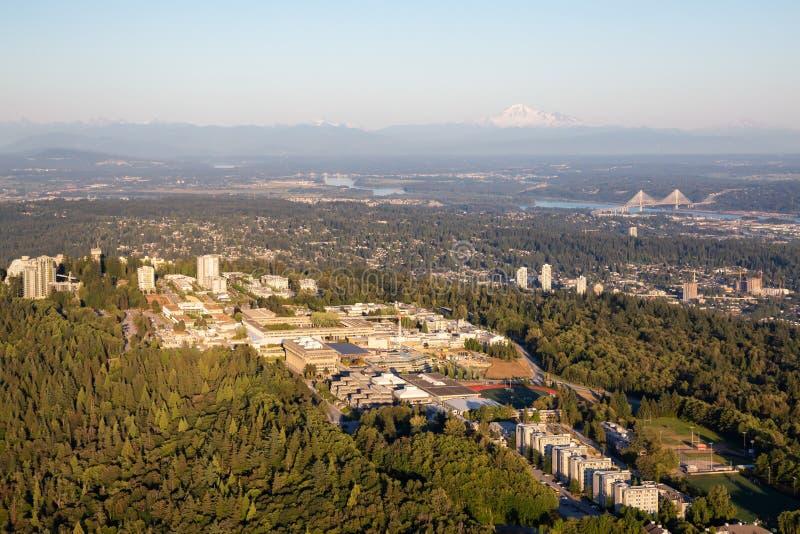 Vue aérienne de montagne de Burnaby images stock