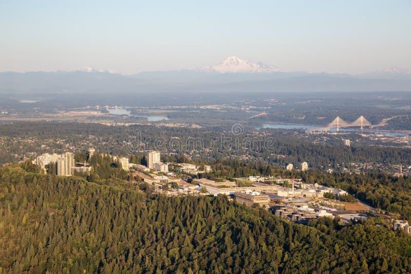 Vue aérienne de montagne de Burnaby image libre de droits