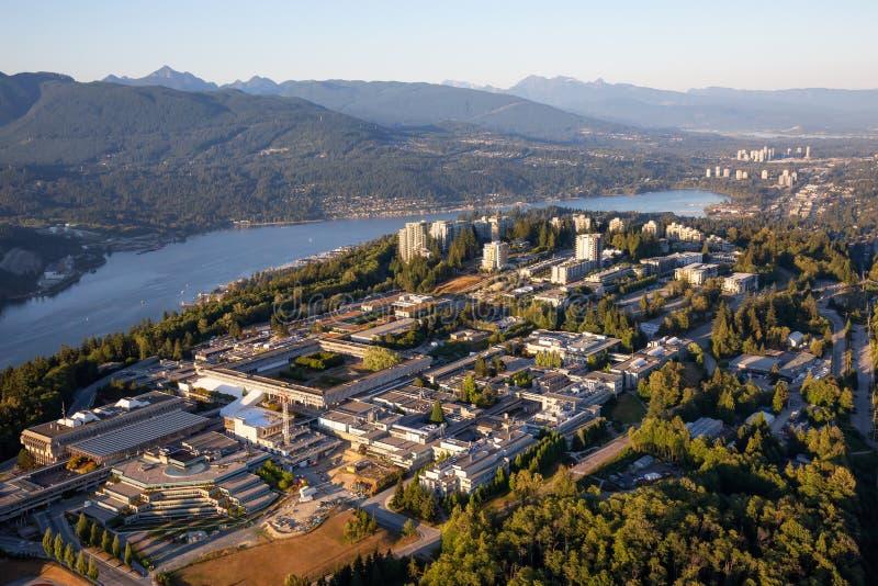 Vue aérienne de montagne de Burnaby photographie stock libre de droits