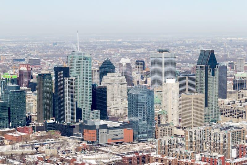 Vue aérienne de Montréal photos stock