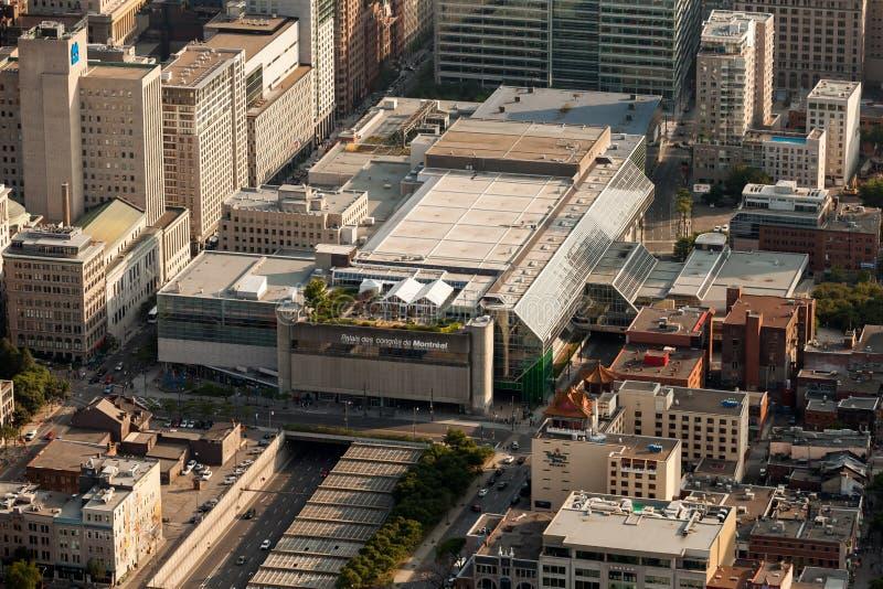 Vue aérienne de Montréal images libres de droits