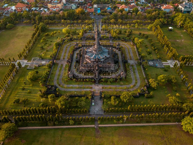 Vue aérienne de monument Denpasar Bali Indonésie de Bajra Sandhi photographie stock libre de droits